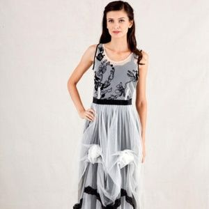 Vintage Inspired Nataya  Black and White Dress L